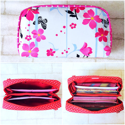 SPACIOUS Hong Bao Organizer | Ang Pao Wallet | Spacious Organizer 100 Red Packets | Spacious White Orchid Design 18B35