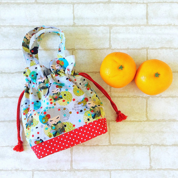Mandarin Orange Carrier | Carrier for 4 Oranges | Chinese New Year Carrier | Orange Carrier Kimmidoll Design 19B03