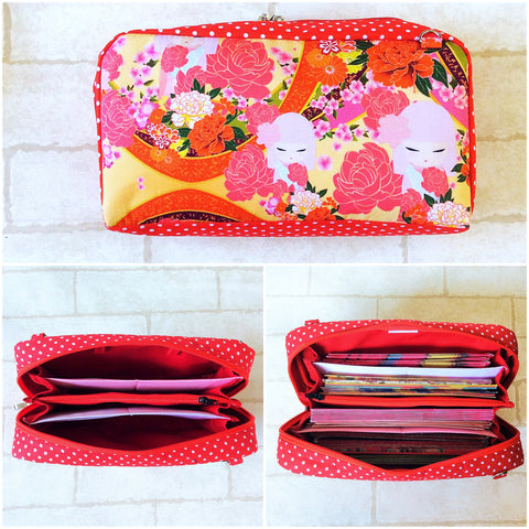 SPACIOUS Hong Bao Organizer | Ang Pao Wallet | Spacious Organizer 100 Red Packets | Spacious Kimmidoll Design 19B10