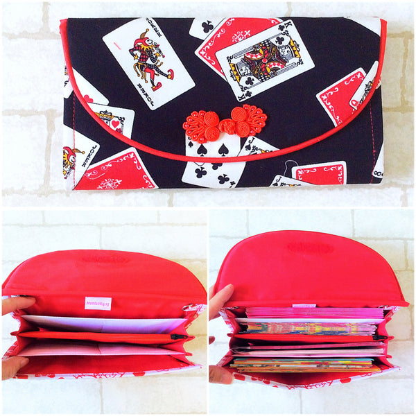 FLAP Ang Bao Organizer |  Pouch for Red Packets | Flap Organiser 50 Red Packets | Flap Poker Cards Design 19B18