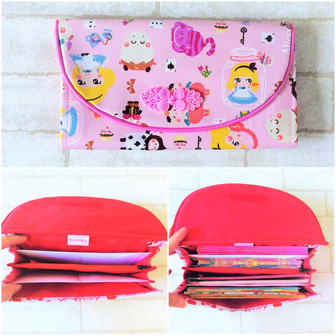 FLAP Ang Bao Organizer |  Pouch for Red Packets | Flap Organiser 50 Red Packets | Alice in Wonderland Design 21B20