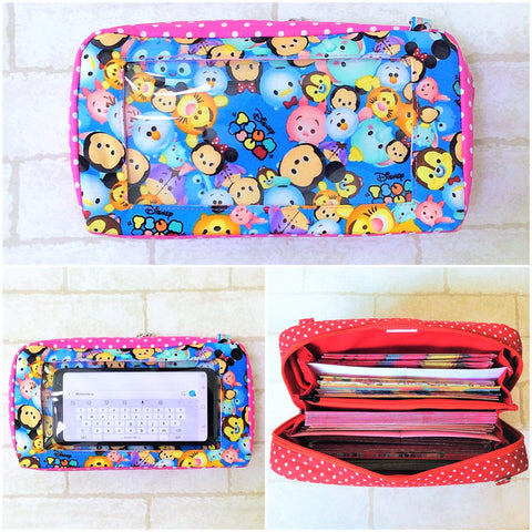 SPACIOUS SMARTPHONE Hong Bao Organizer with Smartphone Pocket | Organizer for Chinese New Year cum Smartphone Pouch| Spacious Organizer | Spacious Smartphone Tsum Design 14B22