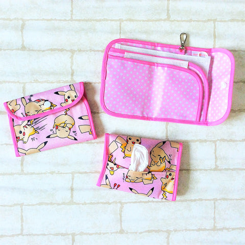 READY STOCK: SURGICAL MASK POUCH | 2 in 1 Surgical Mask Wallet cum Tissue Pouch | Design 2B04