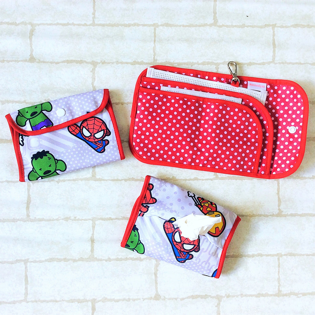 READY STOCK: SURGICAL MASK POUCH | 2 in 1 Surgical Mask Wallet cum Tissue Pouch | Design 2B07
