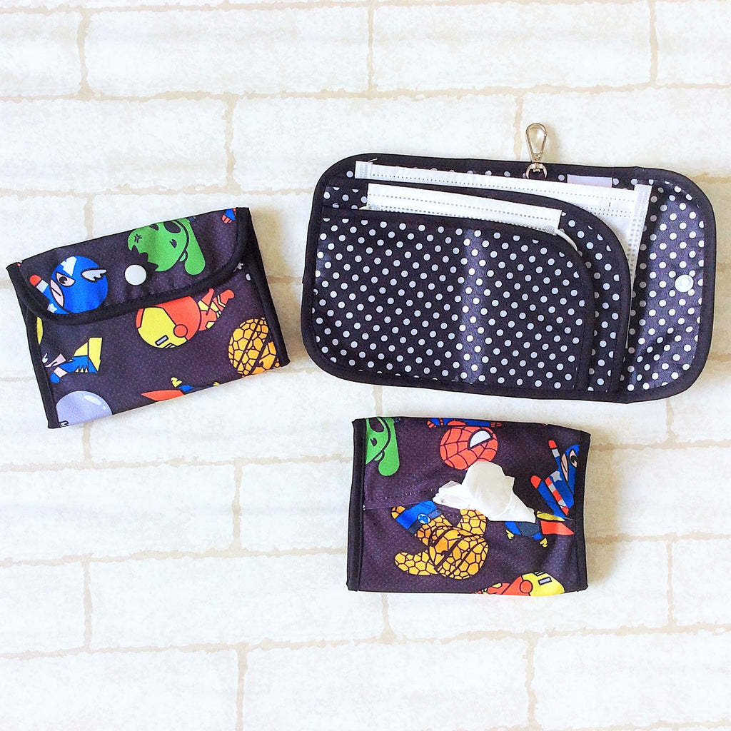 READY STOCK: SURGICAL MASK POUCH | 2 in 1 Surgical Mask Wallet cum Tissue Pouch | Design 2B08