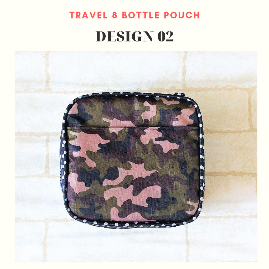 Essential Oil Bottle Travel Pouch | 8 Bottle Essential Oil Pouch | 12 Bottle Essential Oil Pouch | Army Design