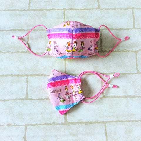KIDS SIZE (Up to 6YO) : HANDMADE MASK READY STOCK | FREE 10 PIECES OF FILTER | Design 3B11