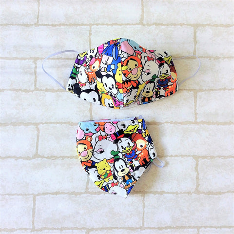 ADULT AND KIDS SIZE : WATERPROOF HANDMADE MASK READY STOCK | Design 3B21