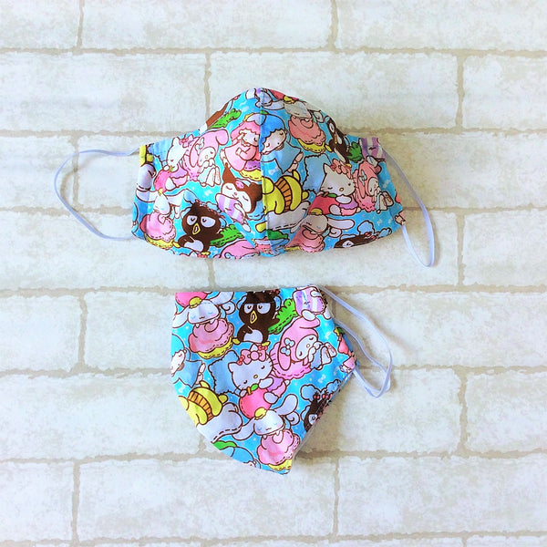 ADULT AND KIDS SIZE : COTTON HANDMADE MASK READY STOCK | Design 3B25