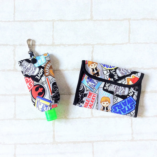 READY STOCK: SURGICAL MASK POUCH | 2 in 1 Surgical Mask Wallet cum Tissue Pouch | Design 4B25