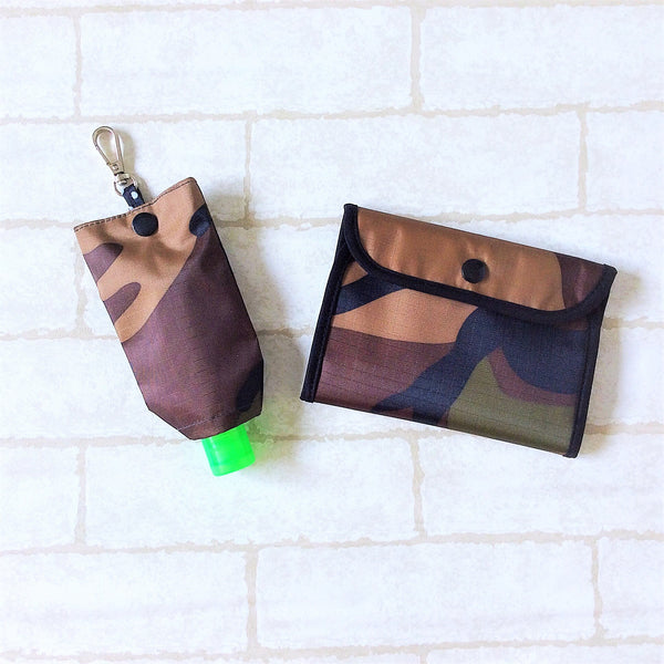 READY STOCK: SURGICAL MASK POUCH | 2 in 1 Surgical Mask Wallet cum Tissue Pouch | Design 4B29