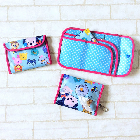 READY STOCK: SURGICAL MASK POUCH | 2 in 1 Surgical Mask Wallet cum Tissue Pouch | Design 4B17
