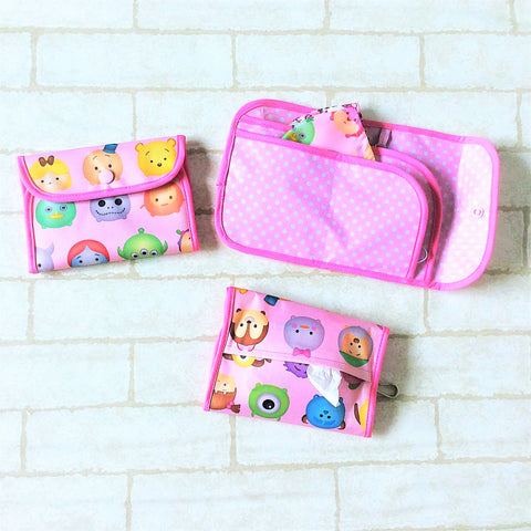 READY STOCK: SURGICAL MASK POUCH | 2 in 1 Surgical Mask Wallet cum Tissue Pouch | Design 4B18