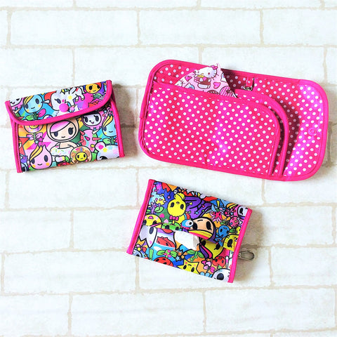 READY STOCK: SURGICAL MASK POUCH | 2 in 1 Surgical Mask Wallet cum Tissue Pouch | Design 4B22