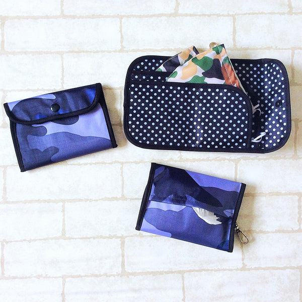 READY STOCK: SURGICAL MASK POUCH | 2 in 1 Surgical Mask Wallet cum Tissue Pouch | Design 4B27