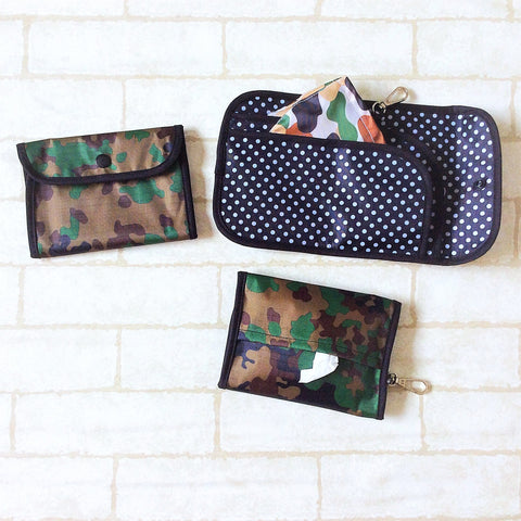 READY STOCK: SURGICAL MASK POUCH | 2 in 1 Surgical Mask Wallet cum Tissue Pouch | Design 4B28
