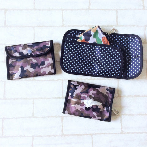 READY STOCK: SURGICAL MASK POUCH | 2 in 1 Surgical Mask Wallet cum Tissue Pouch | Design 4B30