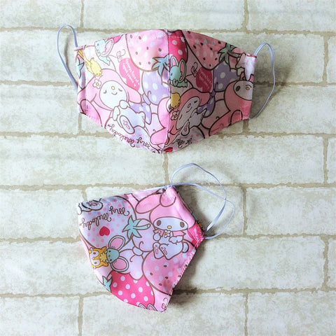 ADULT AND KIDS SIZE : WATERPROOF HANDMADE MASK READY STOCK | Design 2B58