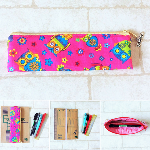 Pencil Pouch Book Band | Pencil Holder | Owl Design 4