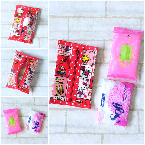 Waterproof 2 sided Wet and Dry Tissue Pouch (Pocket Size) | Pocket Tissue Pouch HK Design 9B04