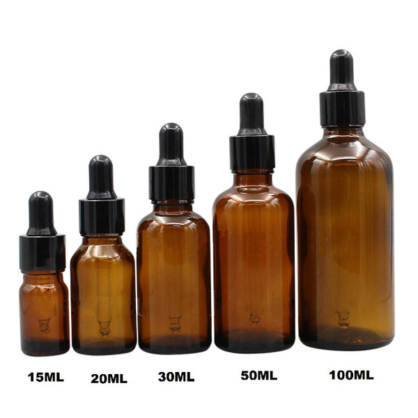 Amber Brown Dropper Bottles