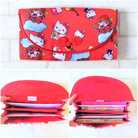 WATERPROOF FLAP Ang Bao Organizer |  Pouch for Red Packets | Flap Organiser 50 Red Packets | Flap HK Design 20B06