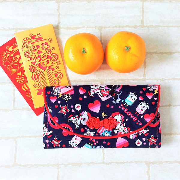 FLAP Ang Bao Organizer |  Pouch for Red Packets | Flap Organiser 50 Red Packets | Flap TKDK Design 20B07