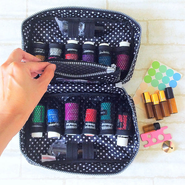 Essential Oil Bottle Travel Pouch | 8 Bottle Essential Oil Pouch | 12 Bottle Essential Oil Pouch | Essential Oil Bag