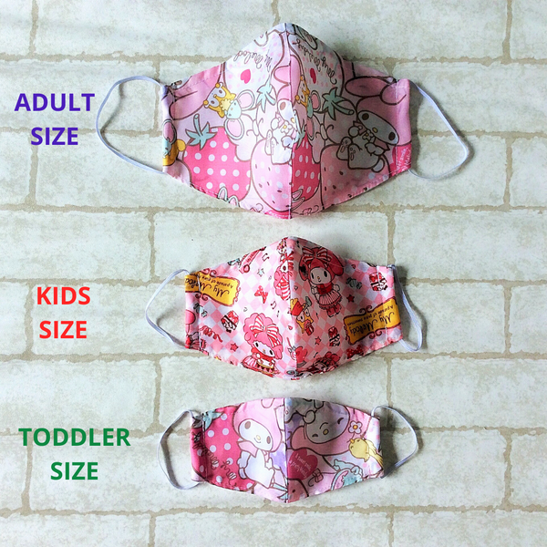 ADULT AND KIDS SIZE : WATERPROOF HANDMADE MASK READY STOCK | Design 2B63