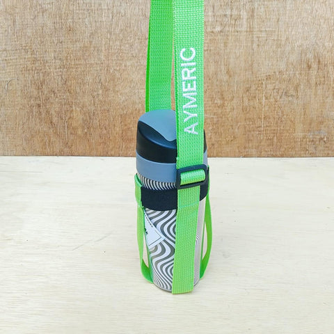 PRE-ORDER: Embroidered Water Bottle Strap | Fits up to 1 Litres Water Bottles | Personalised Water Bottle Strap