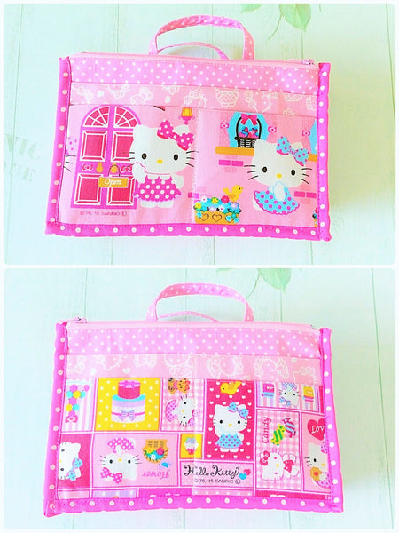 Organizer Bag Small Size | Pink Hello Kitty Design 01 - MomLuvDIY.SG - 2