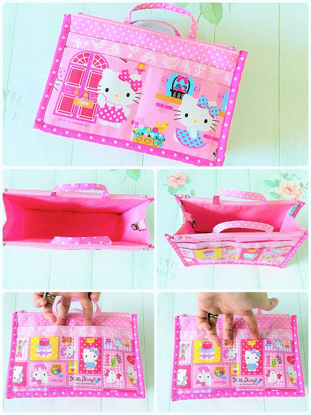 Organizer Bag Small Size | Pink Hello Kitty Design 01 - MomLuvDIY.SG - 3