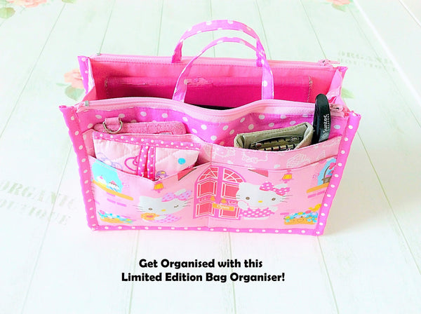 Organizer Bag Small Size | Pink Hello Kitty Design 01 - MomLuvDIY.SG - 4