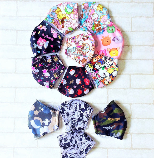 ADULT AND KIDS SIZE : COTTON HANDMADE MASK READY STOCK | Design 3B24