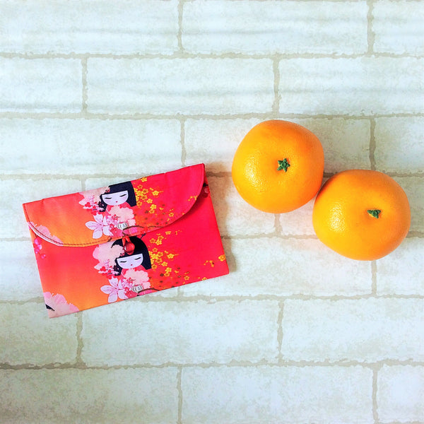 Handmade Fabric Red Packet for CNY | Ang Pow | Red Packet for Notes | Handmade Hong Bao Kimmidoll Design 20B32