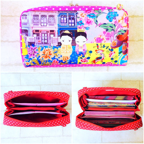 SPACIOUS Hong Bao Organizer | Ang Pao Wallet | Spacious Organizer 100 Red Packets | Spacious Peranakan Design 19B05
