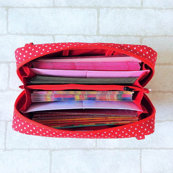 SPACIOUS Hong Bao Organizer | Ang Pao Wallet | Spacious Organizer 100 Red Packets | Spacious Floral Design 15B12