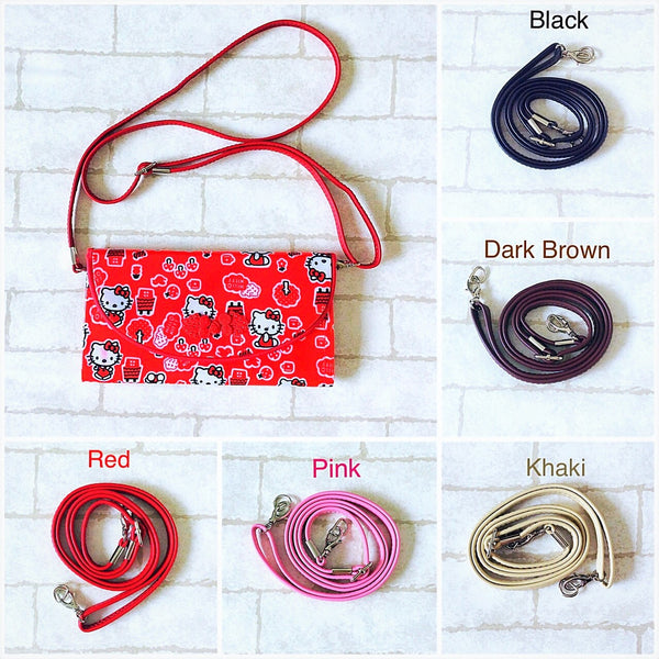 12mm Thin Cross-Body Shoulder Sling Strap | SLIM and FLAP Red Packet Organizer Shoulder Sling