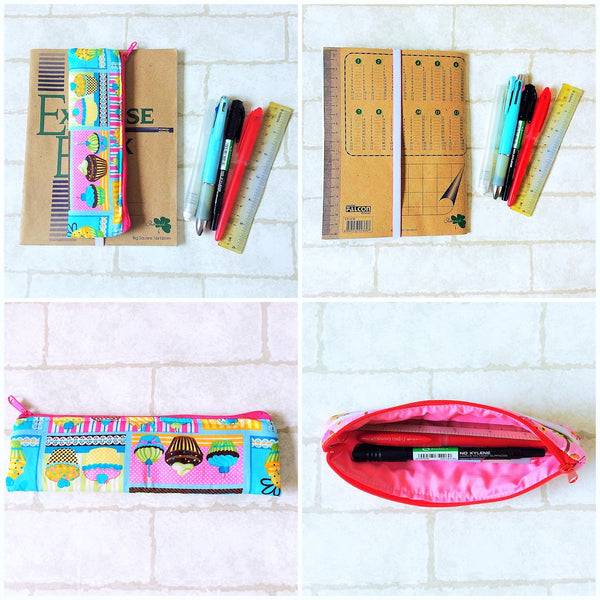Pencil Pouch Book Band | Pencil Holder | Cupcake Design 2