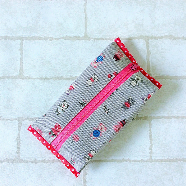 Baby Wipe Pouch Small Size | Grey Piggy Design - MomLuvDIY.SG - 3