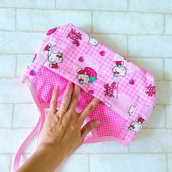 Mini Tote Bag | Hello Kitty Design 01 - MomLuvDIY.SG - 2