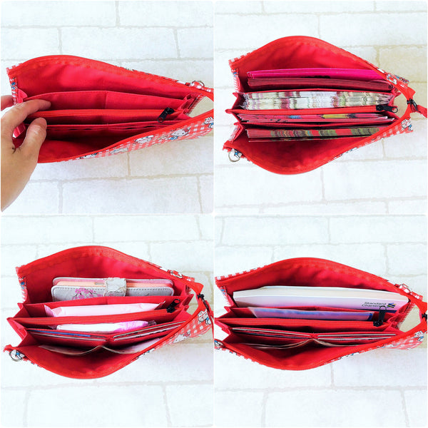 FLAP Ang Bao Organizer |  Pouch for Red Packets | Flap Organiser 50 Red Packets | Flap Floral Design 14B12