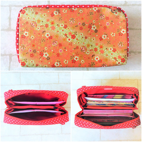SPACIOUS Hong Bao Organizer | Ang Pao Wallet | Spacious Organizer 100 Red Packets | Floral Design 13B10