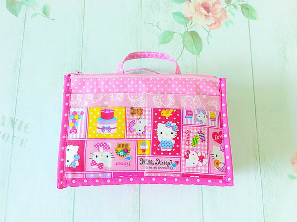 Organizer Bag Small Size | Pink Hello Kitty Design 01 - MomLuvDIY.SG - 6