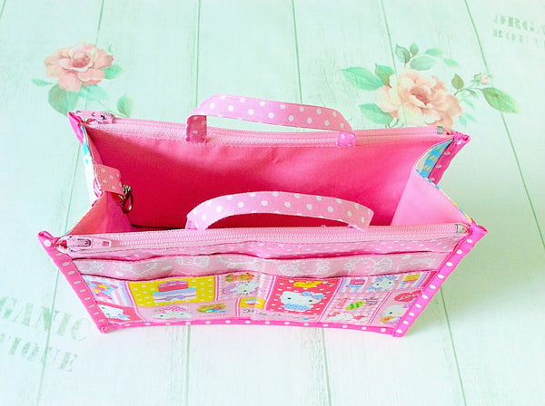 Organizer Bag Small Size | Pink Hello Kitty Design 01 - MomLuvDIY.SG - 9