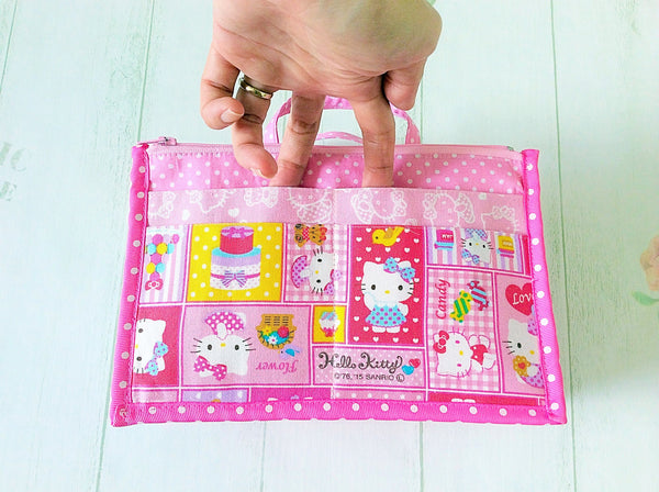 Organizer Bag Small Size | Pink Hello Kitty Design 01 - MomLuvDIY.SG - 7