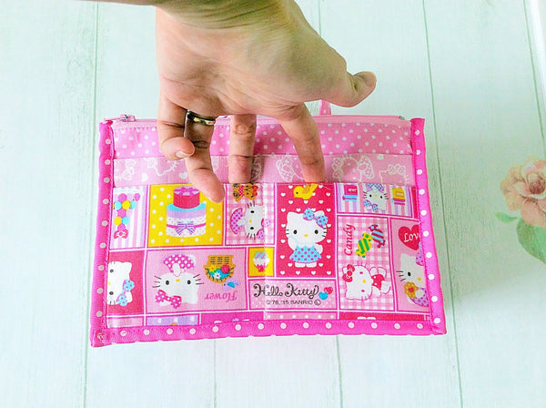 Organizer Bag Small Size | Pink Hello Kitty Design 01 - MomLuvDIY.SG - 8