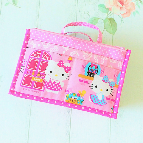 Organizer Bag Small Size | Pink Hello Kitty Design 01 - MomLuvDIY.SG - 1