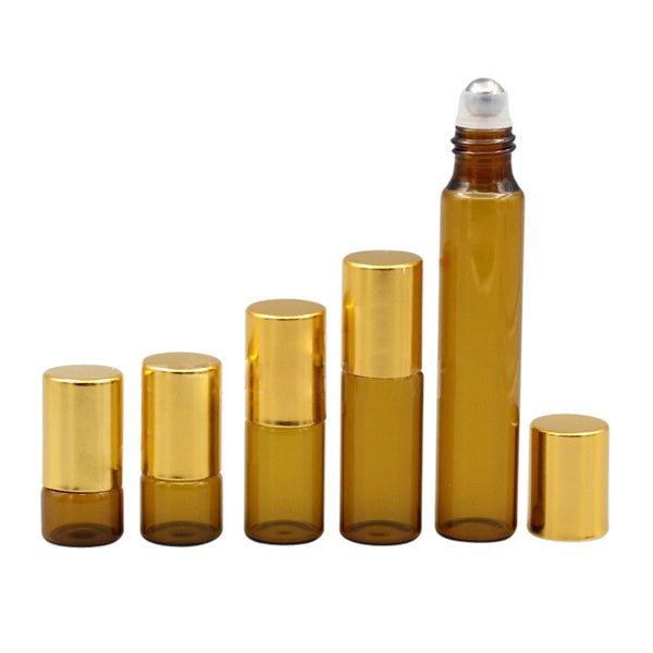 3ML and 5ML Amber Brown Roller Bottles | 1ML 2ML 3ML 5Ml 10ML Roller Bottles