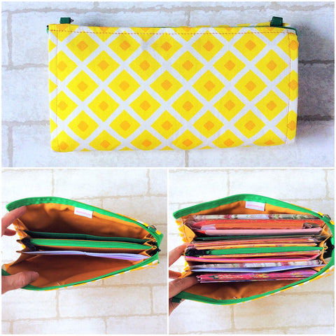 SLIM Red Packet Light Yellow PA Organizer | Ang Pow Organiser | Slim Organiser 70 Red Packets | Slim Light Yellow Pineapple Design 20B14